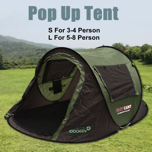 S/L Camping Automatic Instant Popup Tent 4 / 8 Person Waterproof Outdoor    CA3