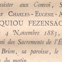 Charles Anatole Eugène De Montesquiou-Fezensac 1883