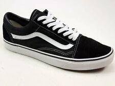 Da Uomo SKOOL VANS nero OLD Tela Scamosciata Casual Skate SK8 POMPE Sneaker UK 9