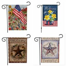 Chois Garden Flags Double Sized America Yard Flag Pole Decor Holder Metal Stand