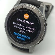 Samsung Gear S3 frontier SM-R765A 46mm Stainless steel Case Gray Smart Watch (A