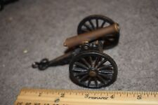 "Vintage Cast Iron Adjustable Cannon Brass Barrel Approx 4"""