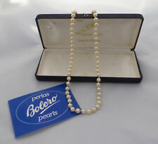 STRING SIMULATED/ FAUX PEARLS WITH SAFETY CHAIN IN BOLERO COLLECTION BOX MAJORCA