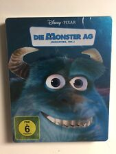 Monsters, Inc. (Blu-ray, 2-Disc, 2011) German Import Steelbook NEW