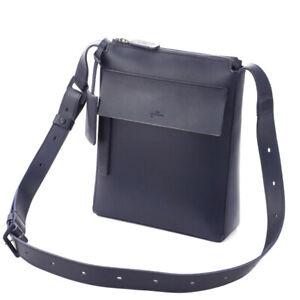 dan genten compact shoulder leather bag Navy