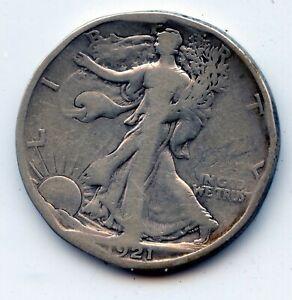 Walking Liberty half 1921-s (SEE PROMO)