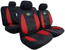 Embroidered Easy Money Red Black Mesh Seat Cover For Toyota Hilux Dual Cab SR5