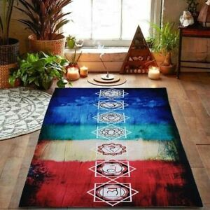 Yoga Mat Colorful Polyester Breathable Scarf Shawl Pilates Gymnastics Accessory