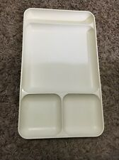 Almond, Cream, Off White Vintage TUPPERWARE Divided Tray 1535-4