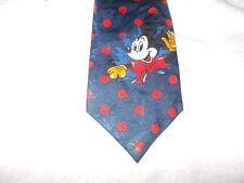 Tie Novelty Cartoon Disney Mickey Mouse Red Blue Polkadot Motif