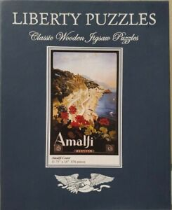 RARE Liberty Classic Wooden Jigsaw Puzzle Whimsies Amalfi Coast 476 Pieces ITALY