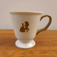 Walt Disney Parks BEAUTY & THE BEAST Footed Coffee Cup/Mug