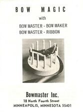 CRAFTS, VTG REPRO BOW MASTER MAGIC INSTRUCTIONS W FREE HOW TO MAKE BOW BOOKS, CD