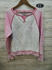 Ivory Ella Pink And Gray Long Sleeve Fleece Womens Medium