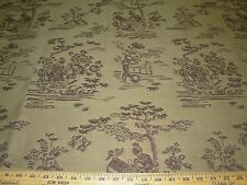 """20~FABRICUT""""ASIAN ORIENTAL TOILE""""~WOVEN DOUBLESIDED UPHOLSTERY FABRIC FOR LESS"""
