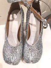 Wonen Maison Margiela Silver Glitter 9/12 Platform Sole And Heel Shoe Italy