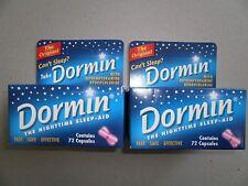 Dormin Nightime Sleep Aid 144 Capsule(2x72) Fast, safe & Effective, The Original