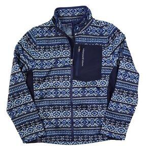 Vineyard Vines Boys Deep Bay Fair Isle Fleece Zip Sweater Jacket