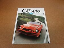 ORIGINAL 1980 Chevrolet Camaro RS Z28 sales brochure dealer catalog literature