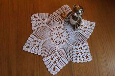 Beautiful star shape handmade doily in white. NEW!