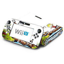 Skin Decal Cover for Nintendo Wii U Console & GamePad - Calvin and Hobbes Comic