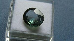 PGTL Certified Oval Cut 5.95ct Unheated Transparent Greenish Blue Sapphire.