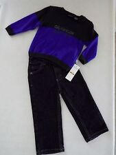 Calvin Klein Toddler Boy's 2 Piece Sweater & Jeans Outfit size 12M New