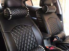 2pcs Black Diamond Crystal Car Accessories  Neck Rest Headrest Pillow