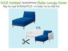 "IKEA Karlstad Korndal""Medium""Blue Chaise Lounge""Longue""COVER ONLY Free-Standing"