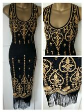 Great Gatsby, flapper, Charleston, 20s, ladies, black, dress UK8/US4/AUS8/EU36