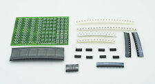 Practice SMD board, double sided, 6x8cm, 121 devices total, 500 solder pads