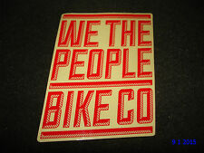 1 AUTHENTIC WETHEPEOPLE WTP BMX BIKE CO RED STICKER / DECAL #105 AUFKLEBER