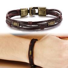 Unisex Wristband Charms Punk Leather Fashion Bracelet For Retro Style cowhide-11