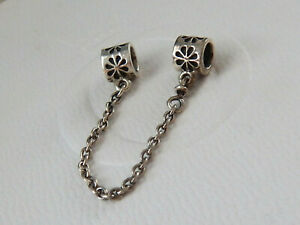 Authentic PANDORA S/Silver FLORAL SAFETY CHAIN. #790385