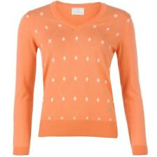 Argyle, Diamond V Neck Regular Jumpers & Cardigans for Women