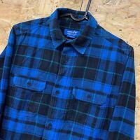 ADIDAS ORIGINALS LONG SLEEVE CHECK FLANNEL SHIRT BLUE SKATEBOARDING SZ 32/34 XS