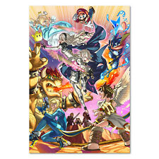 Super Smash Bros - FIre Emblem Poster - Collage Art - High Quality Prints