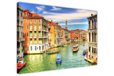FAMOUS VENICE GRAND CANAL CANVAS WALL ART PRINTS HOME KITCHEN FRAMED PICTURES