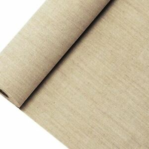 HESSIAN BURLAP FABRIC ON A ROLL 380mm x 10m WALL COVERING CRAFTING SISAL JUTE