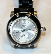Authentic Glam Rock Miami Women's Watch Silver Dial Black Bracelet GRD10700BV