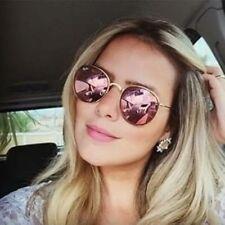 Rose Gold Round Sunglasses Women Fashion Brand Designer Metal Frame Vintage