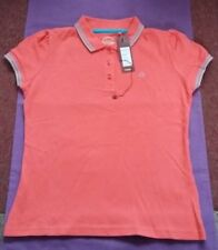 Women's MERC 'Burnett' Polo Shirt SMALL coral NEW WITH TAGS mod indie