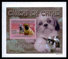 GUINEA EPREUVE DE LUXE CHINESICHE HUNDE CHINESE DOGS CHIENS DELUXE SHEET dr44
