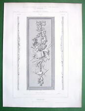 ARCHITECTURE PRINT : France Baroque Wood Carved Panel
