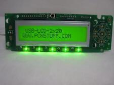 Mini-Box.com PicoLCD USB LCD 20x2 w/ USART, I2C, IR & Custom LED Keypad Control