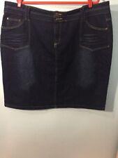 1826 Jeans Women's PLUS size 3X Stretch Denim Skirt A(1)