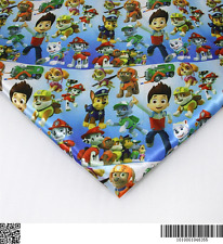 Paw Patrol heat transfer Satin fabric textile for Sewing - 50x140CM
