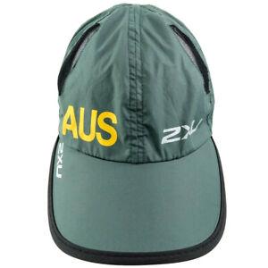 2XU Unisex Green Vented Hat Cap Running Mesh Adjustable Lightweight AUS Outdoors