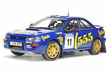 SUNSTAR 5504 Subaru Impreza 555 Diecast Rally Coche Richard Burns NZ 1994 1:18th