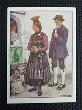 AUSTRIA MK 1950 TRACHTEN COSTUMES MAXIMUMKARTE CARTE MAXIMUM CARD MC CM c3585